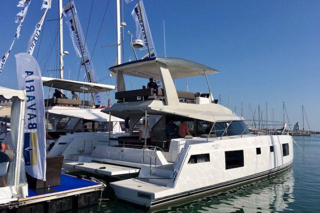Stand Bavaria Catamarans sur le Salon du Multicoque de la Grande-Motte