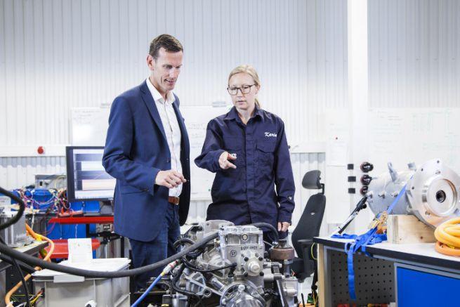 Le laboratoire d'électromobilité de Volvo Penta